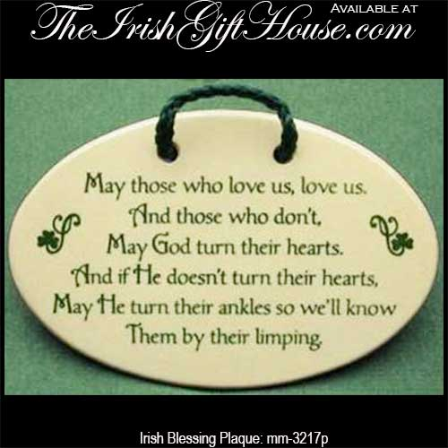 Irish Blessing Plaque May Those Who Love Us Unique Irish Proverbs About Love