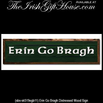 Irish blessing plaque erin go bragh wood sign m4hsunfo