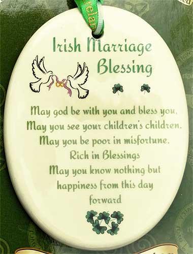 Irish Christmas Ornament - Wedding Blessing - sch9mar
