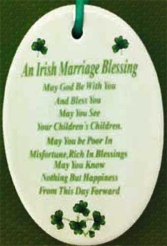 Irish Christmas Blessing.Irish Christmas Ornament Wedding Blessing Shamrocks
