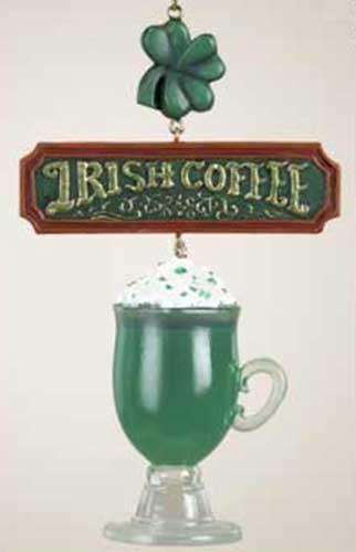 Coffee Christmas Ornaments.Irish Christmas Ornament Coffee Mug
