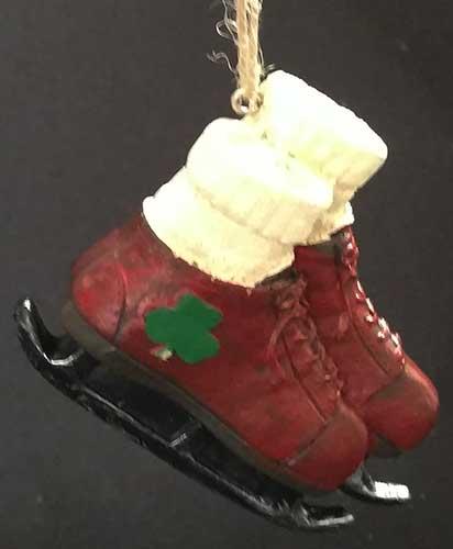 irish christmas ornament ice skates - Ice Skating Christmas Ornaments
