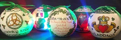 irish christmas ornaments symbols led