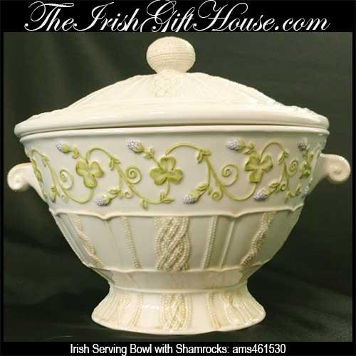 irish-dinnerware-serving-bowl-shamrocks & Irish Serving Bowl with Shamrocks