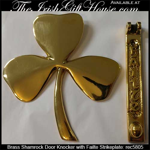 Irish Door Knocker Shamrock 5805a