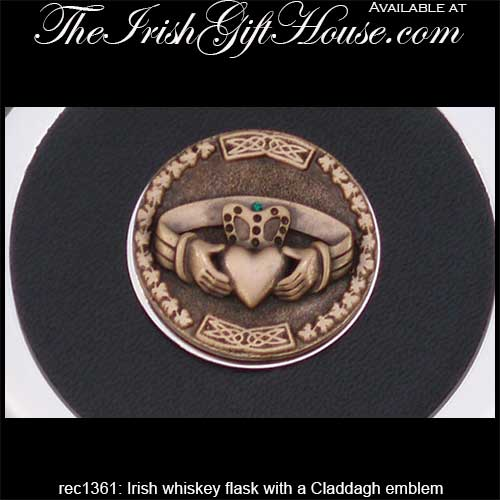 Irish Flask with Claddagh: The Irish Gift House