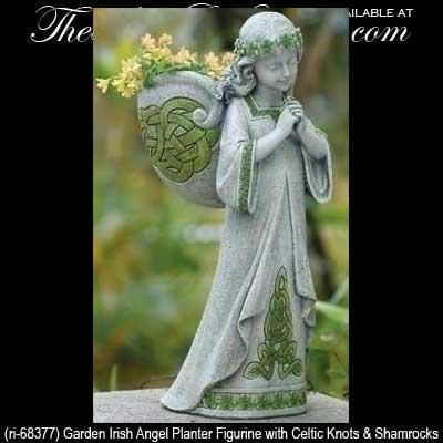 Irish Garden Decor Angel Planter