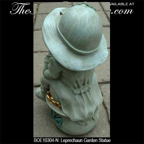 ... Irish Garden Decor Leprechaun Statue B