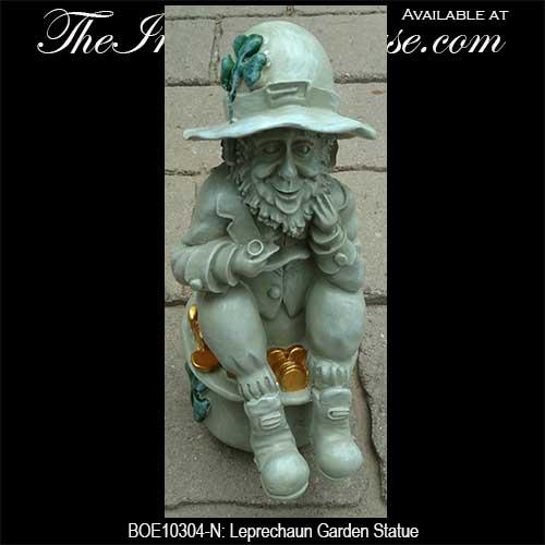 Marvelous Irish Garden Decor Leprechaun Statue