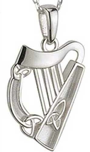 Harp Pendant Sterling Silver Pendant