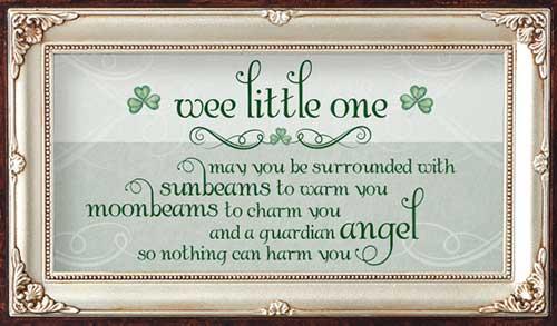 Amazon.com : The Grandparent Gift Irish Baby Angel ...  Irish Baby Blessing
