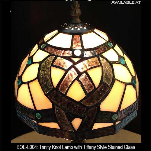 Celtic Lamp with Trinity Knots: Tiffany Glass - The Irish ...