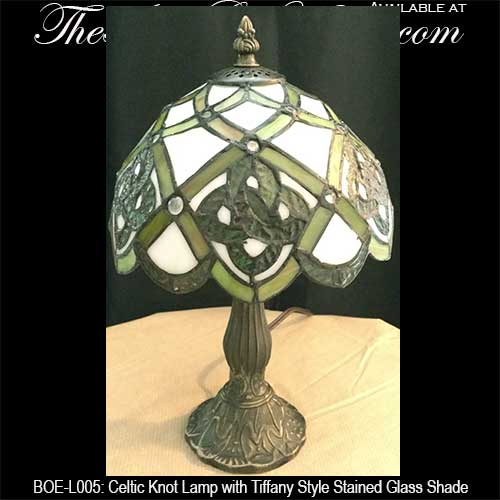Irish Accent Lamp with Stained Glass Celtic Knots: The ...