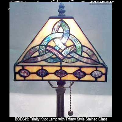 Irish Lamp with Celtic Stained Glass