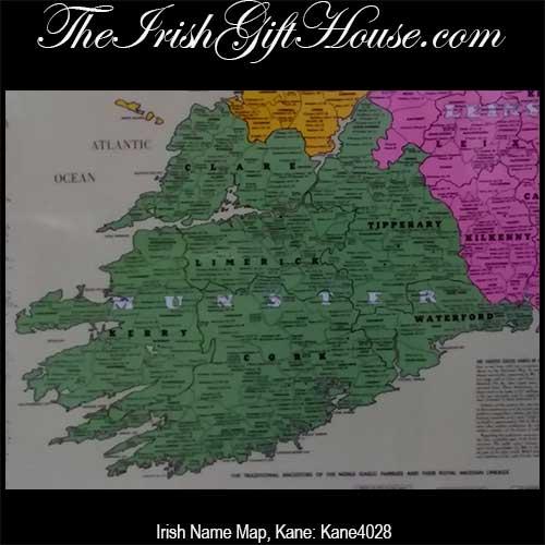 Irish Name Map Ireland