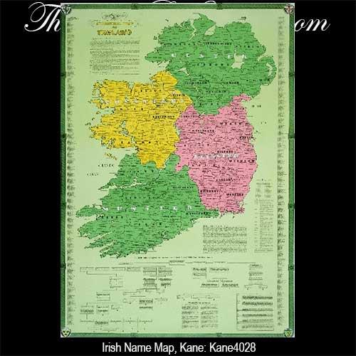 Map Of Quinn Ireland.Irish Name Map Ireland
