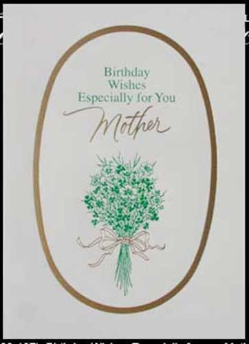Irish Note Cards Birthday Mother