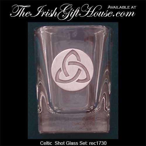 Celtic Claddagh Ring Motif Personalized Shooter Shot Glasses 2oz 01005B-EDPP219I 24pcs