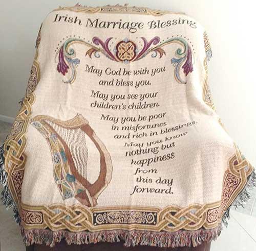 Irish Wedding Blessing Gifts: Irish Wedding Blessing Blanket