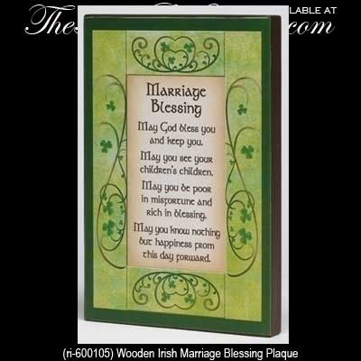 Irish Wedding Blessing Plaque, Wood
