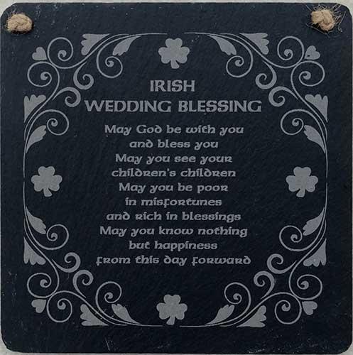 Irish Wedding Gifts From Ireland: Irish Wedding Blessing Plaque