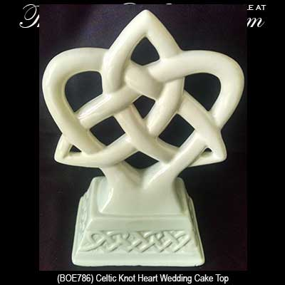 Celtic Wedding Cake Top With Trinity And Heart