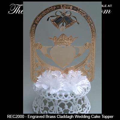 celtic wedding cake topper wedding cake topper claddagh in gold 2526