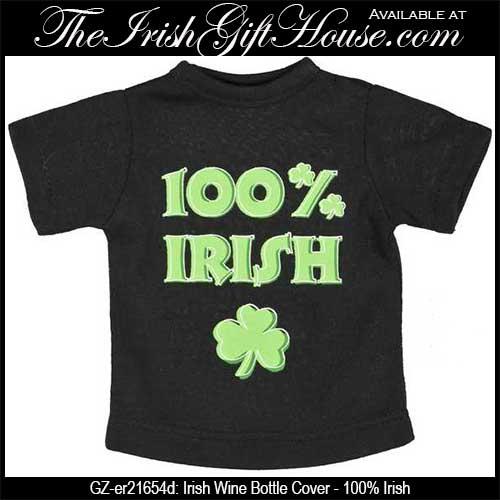 Irish Wine Bottle Cover: 100% Irish - The Irish Gift House