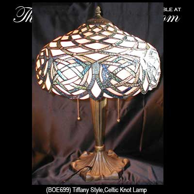 Irish Lamp with Celtic Knots: Tiffany Glass - The Irish ...