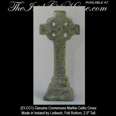 Standing Celtic Cross Connemara Marble