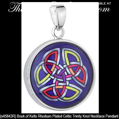 Book of kells necklace trinity knot pendant solvar aloadofball Images
