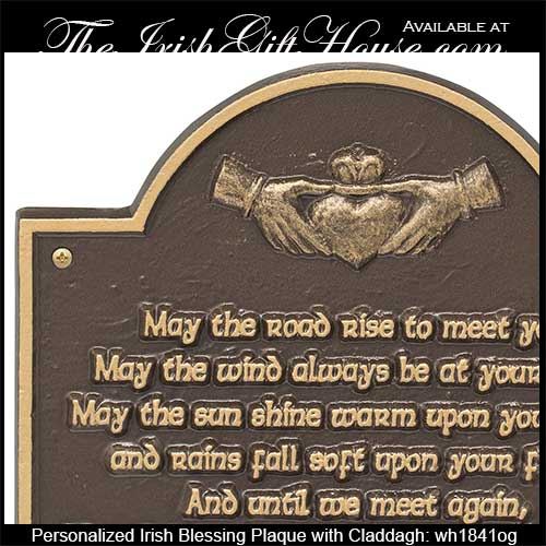 Personalized Irish Blessing Plaque