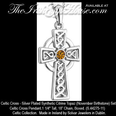 Citrine celtic cross necklace plated plated celtic cross necklace 44275 11 aloadofball Gallery