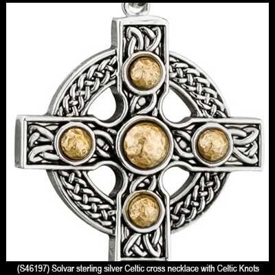 Mens celtic cross necklace sterling silver aloadofball Choice Image