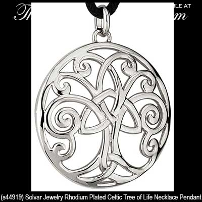 Tree of life pendant trinity knot plated mozeypictures Gallery