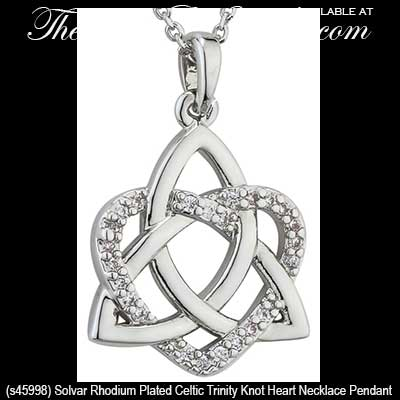 Celtic trinity knot heart necklace pendant solvar jewelry celtic trinity knot heart necklace pendant solvar jewelry rhodium plated aloadofball Image collections