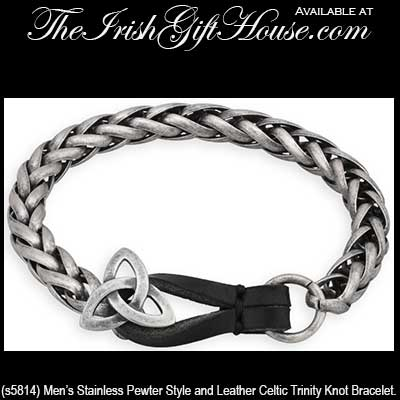 Men S Celtic Bracelet Pewter Trinity Knot
