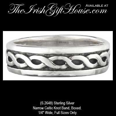 Silver Celtic Wedding Band: Women\'s