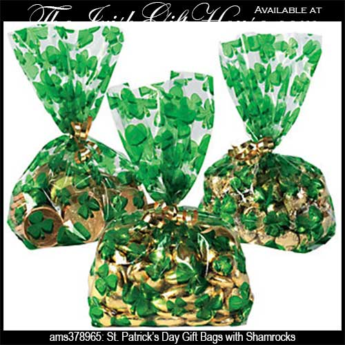 Patrick's Day Gift Bags with Shamrocks: The Irish Gift House