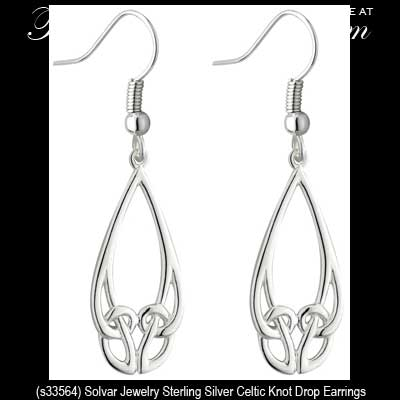 Sterling Silver Trinity Earring with Stylized Knot-Work
