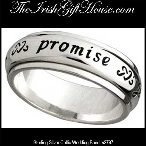 Sterling Silver Celtic Band Irish Promise Ring