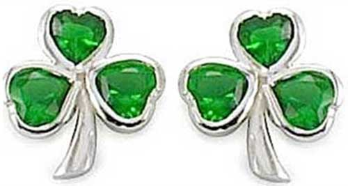 434062b4c sterling-silver-shamrock-earrings-s213107em