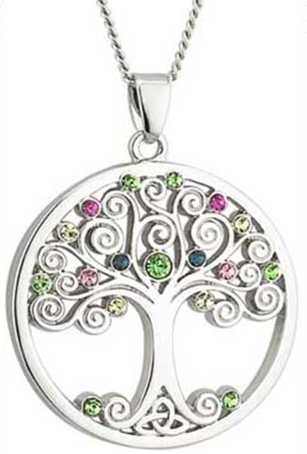 Tree of life pendant with crystals aloadofball Images