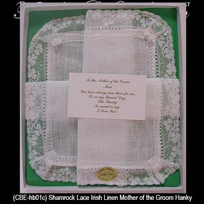 irish mother of the groom hankie irish wedding gifts irish wedding ...