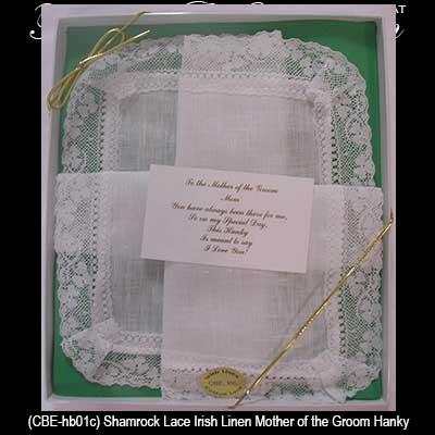 Wedding Gifts For Bride Ireland : irish mother of the groom hankie irish wedding gifts irish wedding ...
