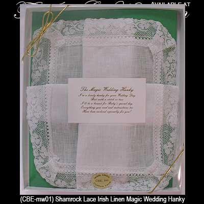 Wedding Gift Baskets Ireland : bride wedding hankie magic irish wedding gifts irish wedding gifts ...