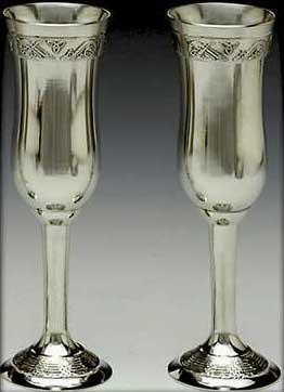 Mullingar Pewter Champagne Flutes