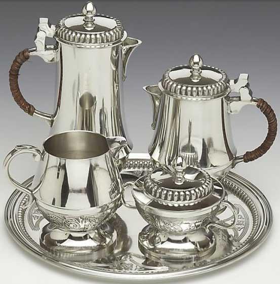 Pewter Coffee And Tea Set Mullingar Pewter The Irish