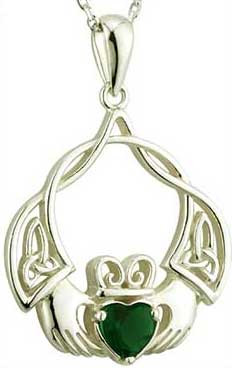 Silver claddagh necklaces the irish gift house aloadofball Image collections