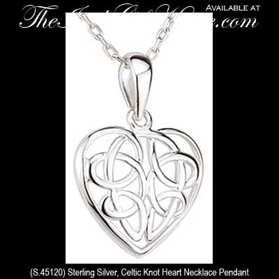 Celtic Necklace Tattoo Celtic Knot Heart Necklace